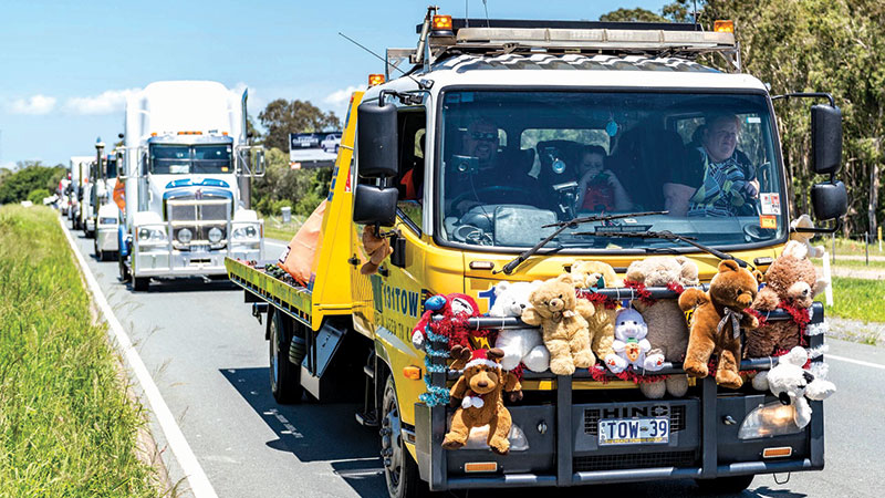 Convoy Rolls Into Town