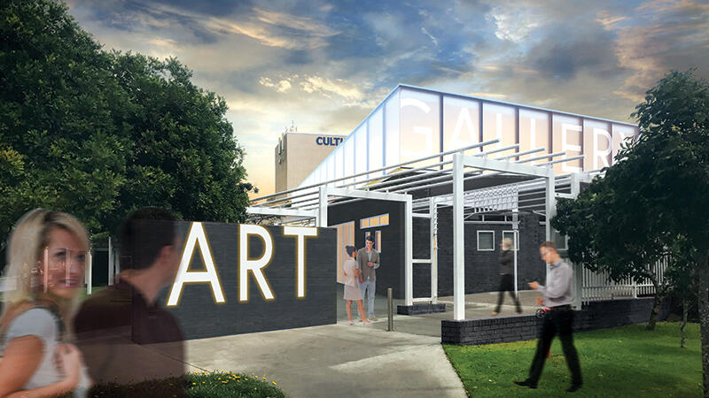 Work Begins on New Art Gallery  and Community Space